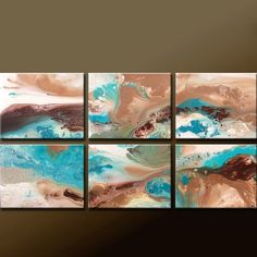 6pc Original painting SEA OF TRANQUILITY by Destiny Womack http://www.etsy.com/shop/wostudios