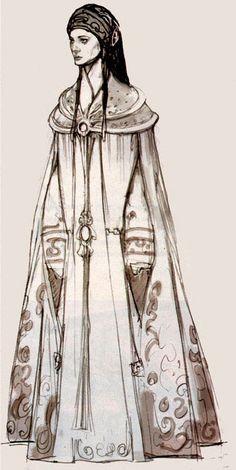 Padmé peacock dress concept art