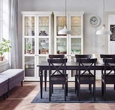 IKEA INGOLF traditional style dining table and chairs