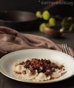 Raviolini ai funghi con fegatini al miele tartufato di Anna Laura