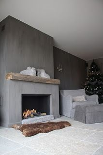 Great Free Fireplace Remodel modern Strategies – Rebel Without Applause Stucco Fireplace, Concrete Fireplace, Open Fireplace, Fireplace Remodel, Fireplace Surrounds, Fireplace Design, Fireplace Mantels, Rustic Fireplaces, Fireplace Ideas