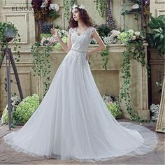 Simple Cheap Boho Wedding Dresses Lace 2018 Vestidos De Noiva V Neck A Line  Handmade Bridal Gowns Sweep Train Robe Mariage 120d888262f5