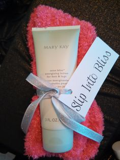 $12 Slip Into Bliss--Mary Kay Mint Foot and Leg cream with a pair of fuzzy socks www.marykay.com/barbscriven