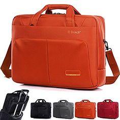 Laptop Bag ,BRINCH 15.6 Inch Nylon Stylish Roomy Multi-compartment Laptop Shoulder Messenger Bag Handle Bag Tablet Briefcase For 15 - 15.6 Inch Laptop / Notebook / Macbook / Tablet Computers ( Orange,15.6 Inch )