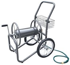 #fishingshopnow Liberty Garden Products 880-2 Industrial 2-Wheel Pneumatic Tires Garden Hose Reel Cart, Holds 300-Feet of… #fishingshopnow