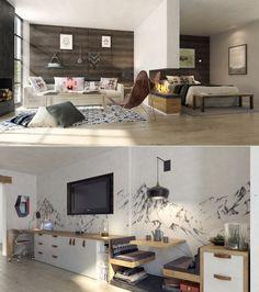 44d358d176 Studio Apartment Interiors Inspiration