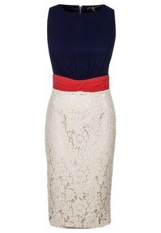 Vestito elegante - navy cream