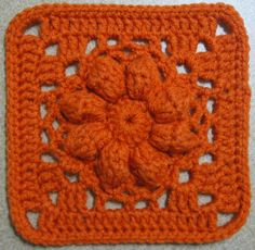 Crochet Square -- Ravelry: jewlbal3's 365 Day 9 -- Spring Blossoms