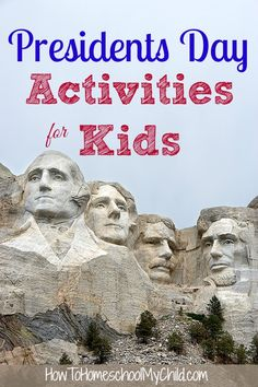 Presidents Day Activities for Kids {Weekend Links} from HowToHomeschoolMyChild.com