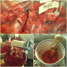 Processing Frozen Tomatoes for Canned Pizza Sauce