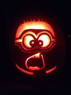 Minion Pumpkin carving or no carving Minion pumpkin design