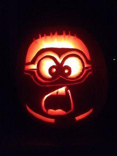 Minion Pumpkin carving or no carving Minion pumpkin design