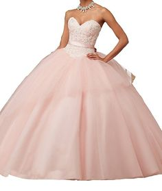 JJL Ball Gown Quinceanera Dresses With Bow Tie Sweetheart Layered Ruffle Prom Gowns. Sweetheart ball gown dress floor length with big bow tie and a short layer of tulle. Embellishment: lace appliques,sequins,beads and bow. Suitable for quinceanera, proms, birthday, wedding parties and other special occasions. Please refer to our size chart on the left side or in the product description, our size chart is a little different from amazon size chart.For more size and color choices,please…