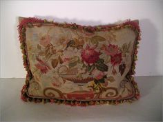 Red Aubusson Pillow $720.00