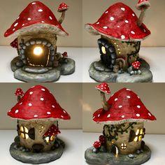 Paper clay & soda bottle fairy house Papier Ton & Soda Flasche Fee Haus Trending Craft Ideas Using P Fairy Crafts, Garden Crafts, Diy And Crafts, Garden Ideas, Easy Garden, Simple Crafts, Garden Projects, Felt Crafts, Clay Fairy House