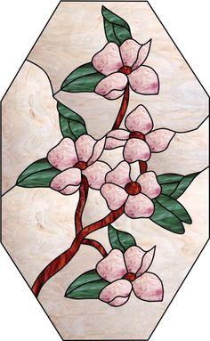 stained glass dogwood - Google Search