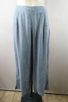 NWT Size L 14 Ladies Grey Culottes Pants Trousers Office Boho Chic Casual Design    eBay