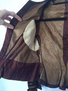 Antique Civil War Handmade 1850 1860 Victorian Bodice   eBay seller fashiondollauren; center front hook & eye closure; decorative hand made buttons; all hand sewn; lined in cotton, lightly boned