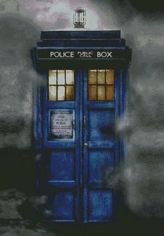 TARDIS-Doctor Who Exploding -Cross stitch pattern pdf format,Instant D