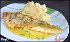 Zubáč na masle Mashed Potatoes, French Toast, Grains, Chicken, Meat, Cooking, Breakfast, Ethnic Recipes, Pisces