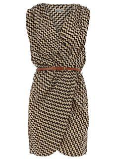 Dorothy Perkins Black Aztec Crossover Dress