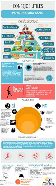Recursos para la Educación Ambiental: Consejos para tener una vida saludable - Selección de infografías.