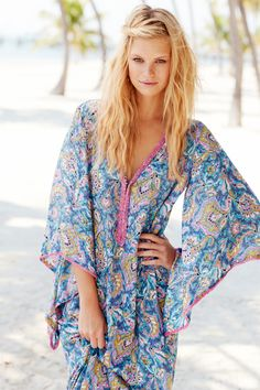 Enjoy an additional 60% off select sale styles this weekend ONLINE ONLY! Wiltan Printed Caftan