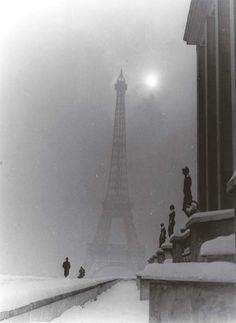Untitled (Eiffel Tower), 1950's, Maurice Tabard. (1897 - 1984)