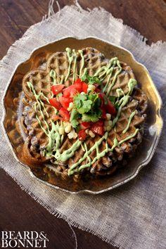 Savory Black Bean Flour Waffles {Beard and Bonnet} #gfree #glutenfree #waffles