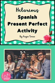 My students beg me to play this Spanish Present Perfect Activity by Angie Torre: During this activity, students will be talking about things they have never done. This is a culiminating activity for the lesson on the Present Perfect which cements the concept in the student's minds. It works well for the following reasons: Students will be speaking Spanish the entire time. They get a taste of culture as this is a game Spanish students love to play. It is hilariously fun. It helps students to…