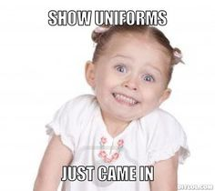 I made a meme to express my excitement about our guard uniforms.