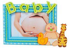 Portarretrato para Baby Shower / Marco de madera / Centro de mesa / Recuerdos