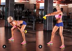 The kettlebell swing! Works your legs, back, abs, and glutes.  My trainer has me do this.