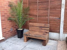 A bench I made from railway sleepers.