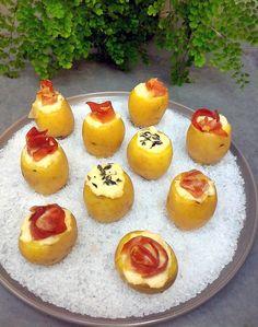 Batatas bolinha recheadas
