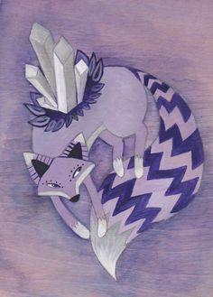 Original Painting - Quartz Fox - by Savannah Mitchell