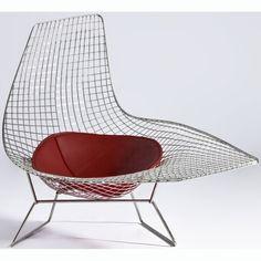 Bertoia Style Asymmetric Chaise