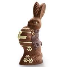 """Lake Champlain Chocolates: Mr. Goodtime Easter Bunny. 16 1/2"""" tall. Wouldn't he be a cute centerpiece? Yummm! $75.00"""