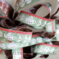 tea time ribbon (17mm wide) [per metre] - $4.20 : Ribbons Galore, your online store for the best ribbons