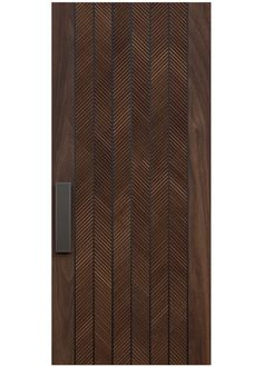 SUITED A custom door design with masculinity and refinement merge to create this stunning combination of select grade wood and steel. Modern Entrance Door, Entrance Design, Entry Doors, Modern Wood Doors, Modern Exterior Doors, Wooden Front Door Design, Wooden Front Doors, Modern Front Gate Design, House Main Door Design