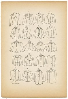 Beautiful jacket designs by Elsita Clothing Patterns, Sewing Patterns, Jacket Drawing, School Fashion, Pattern Making, Sewing Tutorials, Pattern Fashion, Vintage Outfits, My Design