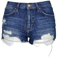 TopShop Moto Displaced Pocket Rosa Shorts (1,845 PHP) ❤ liked on Polyvore featuring shorts, bottoms, topshop, mid stone, torn shorts, mid rise shorts, topshop shorts and destroyed shorts