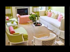 should we consider the pear color from the sofa for on the wall in the living room? Green And Pink Living Room Design Ideas, Pictures, Remodel and Decor Pink Living Room, Interior Furniture, Living Room Green, Living Room Designs, Contemporary Living Room, Trending Decor, Home Decor, House Interior, Room Design