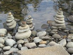 Passing time stacking river rocks...