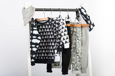 Fashion rack full of Zreefer clothing