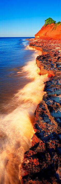 Tides of Change, Western Australia.have seen the red beaches of Western Australia. Brisbane, Melbourne, Beautiful World, Beautiful Places, Beautiful Pictures, Australia Travel, Western Australia, Perth Australia, Coast Australia