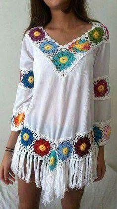 granny square crochet dress wi