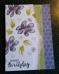 Stampin up penned and painted