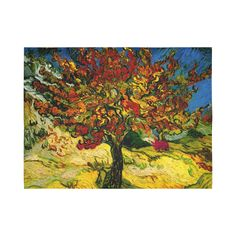 Van Gogh Mulberry Tree Cotton Linen Wall Tapestry 80