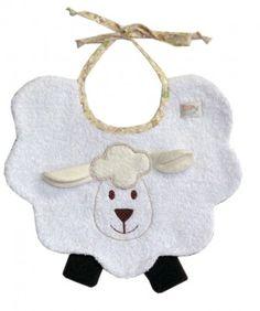 Sheep Bib - Infant & Toddlers by Zigozago on today! Baby Dress Pattern Free, Baby Bibs Patterns, Bib Pattern, Sewing Patterns, Quilt Baby, Baby Quilts Easy, Sewing Kids Clothes, Sewing For Kids, Baby Sewing Projects